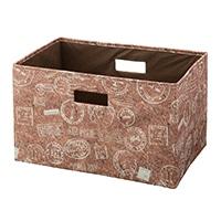 【数量限定】持ち運びしやすい折りたたみ収納ボックス コルクブラウン