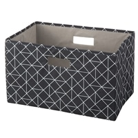 【数量限定】持ち運びしやすい折りたたみ収納ボックス 幾何ブラック