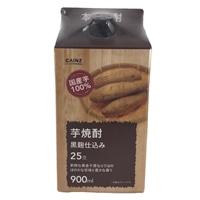 本格 芋焼酎 黒麹仕込み 25度 900ml パック