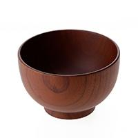 【trv】木製汁椀 茶 中