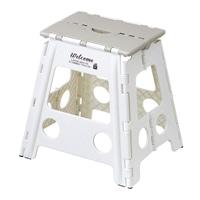 持ち運びしやすい折り畳み踏み台 ハイタイプ ホワイト