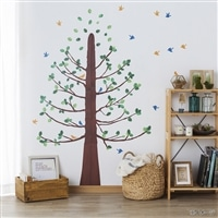 ウォールステッカー 鳥と木