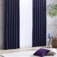 断熱・遮光4枚組セットカーテン ブラウ 150×178 ネイビー