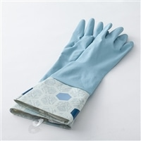 カバー付きゴム手袋 ブルー M
