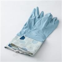 カバー付きゴム手袋 ブルー L