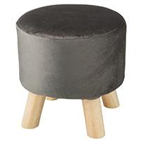 【数量限定】木脚スツール専用カバー ベルベット調ブラック