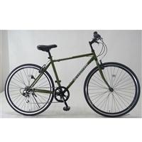 【自転車】クロスバイク アヴェントゥーラ AVVENTURA 外装6段 700×28C エアロリム仕様 カーキ
