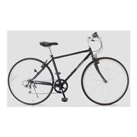 【自転車】クロスバイク AVVENTURA 外装6段 700×28C ブラック【別送品】