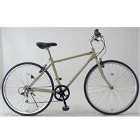 【自転車】クロスバイク アヴェントゥーラ AVVENTURA 外装6段 700×28C ベージュ