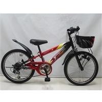 【自転車】ジュニアマウンテンバイク サンダーフォースV 20インチ レッド