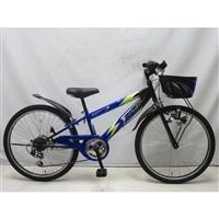【自転車】ジュニアマウンテンバイク サンダーフォースV 24インチ ブルー