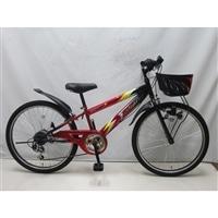 【自転車】ジュニアマウンテンバイク サンダーフォースV 24インチ レッド
