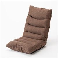 しっかり硬めの低反発ハイバック座椅子 ブラウン