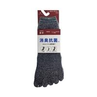 消臭抗菌 厚手靴下 ショート 5本指 杢 3足組