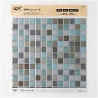 Kumimoku デザインシート タイル 大 ブルーマーブル