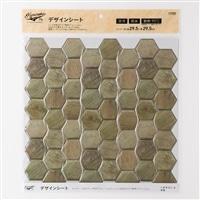 Kumimoku デザインシート 六角形 小 木目