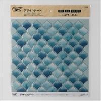 Kumimoku デザインシート モロッコタイル ブルー