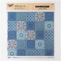 Kumimoku デザインシート 四角25 ブルー
