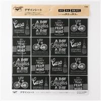 Kumimoku デザインシート 四角16 タイポグラフィ