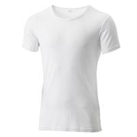 【数量限定・2019秋冬】薄手 吸湿発熱保温Tシャツ 半袖 丸首 ホワイト 3L