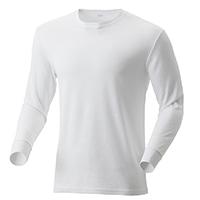 【2019秋冬】KUROCKER'S 中厚手 吸湿発熱保温Tシャツ 長袖 丸首 ホワイト 3L