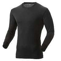 【2019秋冬】KUROCKER'S 中厚手 吸湿発熱保温Tシャツ 長袖 丸首 ブラック LL