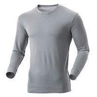 【2019秋冬】KUROCKER'S 中厚手 吸湿発熱保温Tシャツ 長袖 丸首 グレー 3L