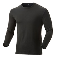 【2019秋冬】KUROCKER'S 厚手 蒸れにくい保温Tシャツ 長袖 丸首 ブラック L