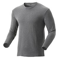 【2019秋冬】KUROCKER'S 厚手 蒸れにくい保温Tシャツ 長袖 丸首 杢グレー 3L