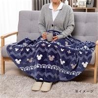 【2019秋冬】羽織れるラウンドケット ミッキー R140 ネイビー