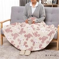 【2019秋冬】羽織れるラウンドケット ミッキー R140 ピンク