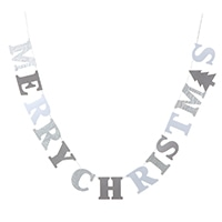 【数量限定】クリスマスガーランド ホワイト 150cm