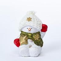 ニット帽スノーマン ホワイト