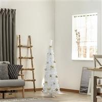ポップアップクリスマスセットツリー ホワイトスリム 120cm W