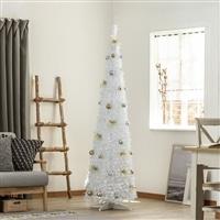 ポップアップクリスマスセットツリー ホワイトスリム 180cm W