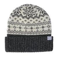 【数量限定】FITTY ニット帽子ダブル ノルディック ホワイト