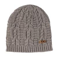【数量限定】FITTY ニット帽子ダブル 杢ベージュ