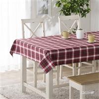 菌や臭いを防ぐテーブルクロス チェック 120×120