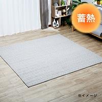 【2019秋冬】蓄熱キルトラグ シュニーキルト 185×185 グレー