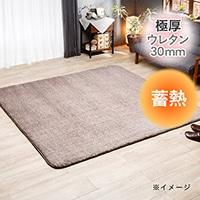 【2019秋冬】蓄熱極厚ラグ 楓ウォーム 90×185 ベージュ