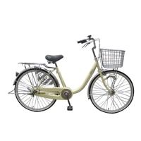 【店舗限定】【自転車】U型フレーム軽快車 GAVLE イエブレ 24インチ オートライト CF19-UCP241HD クリーム