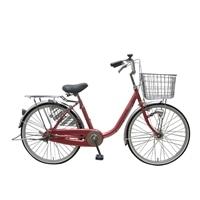【店舗限定】【自転車】U型フレーム軽快車 GAVLE イエブレ 24インチ オートライト CF19-UCP241HD ローズ