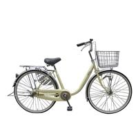 【自転車】U型フレーム軽快車 GAVLE イエブレ 26インチ オートライト CF19-UCP261HD クリーム