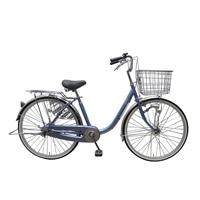 【自転車】U型フレーム軽快車 GAVLE イエブレ 26インチ オートライト CF19-UCP261HD ブルー