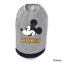 【数量限定・2019秋冬】レイヤード風トレーナー ミッキーマウス グレー Sサイズ