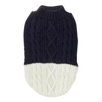 【2019秋冬】ケーブル編みセーター ネイビー Sサイズ