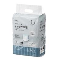 【ケース販売】CAINZ ケアフィール すっきり快適 うす型 パンツタイプ L 96枚(16枚×6個)[4549509608660×6]