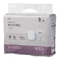 【ケース販売】CAINZ ケアフィール ゆったり安心 パンツタイプ M 64枚(32枚×2個)[4549509608790×2]