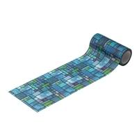 Kumimoku マスキングテープ ガラス用 ステンドグラスブルー 9cm×5m