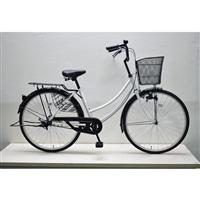 【自転車】軽快車 26インチ CF19-WB261 ホワイト